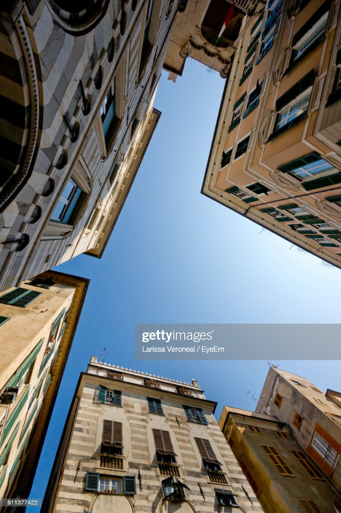 Low Angle View Of Buildings Against Sky : Stock Photo
