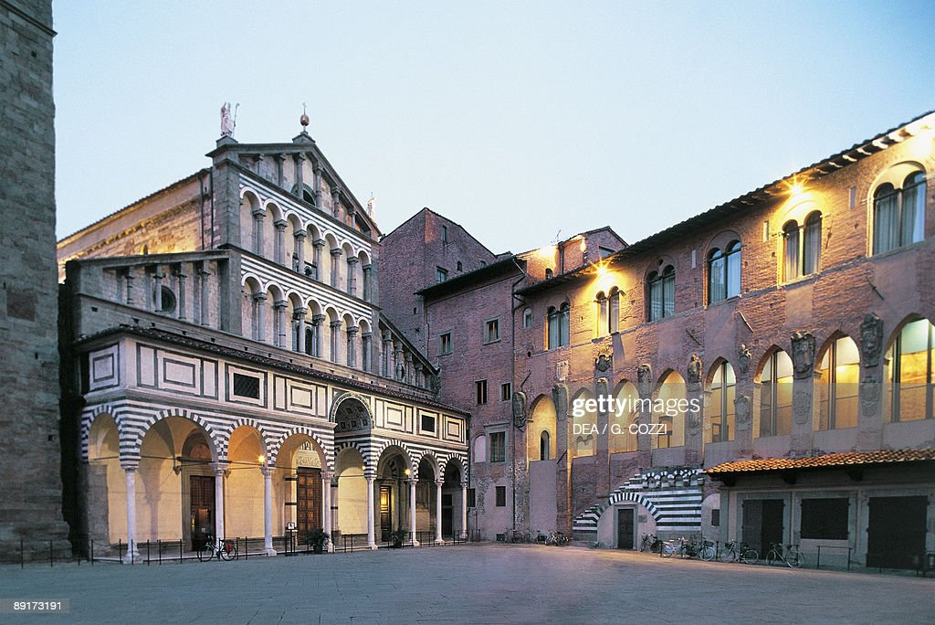 Low angle view of buildings, Bishop's Palace, Pistoia ...