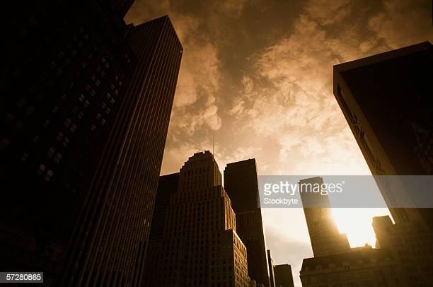 Low angle view of buildings in new york city