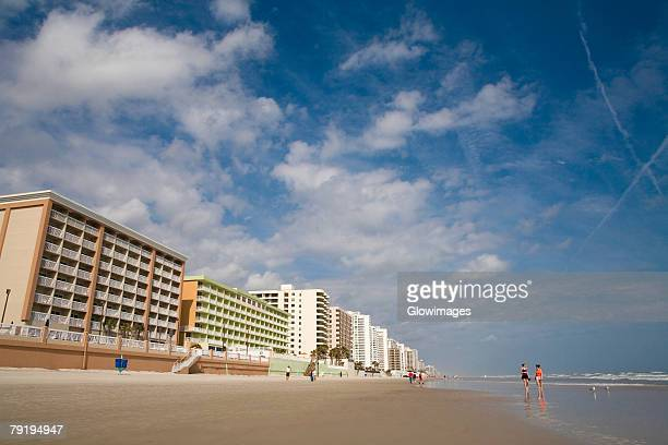 Low angle view of buildings near a beach, Daytona Beach, Florida, USA