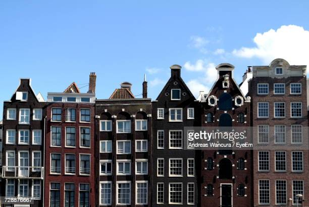 low angle view of buildings - anthropomorphic face stock pictures, royalty-free photos & images