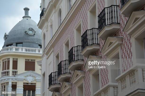 low angle view of buildings - valladolid spanish city stock pictures, royalty-free photos & images