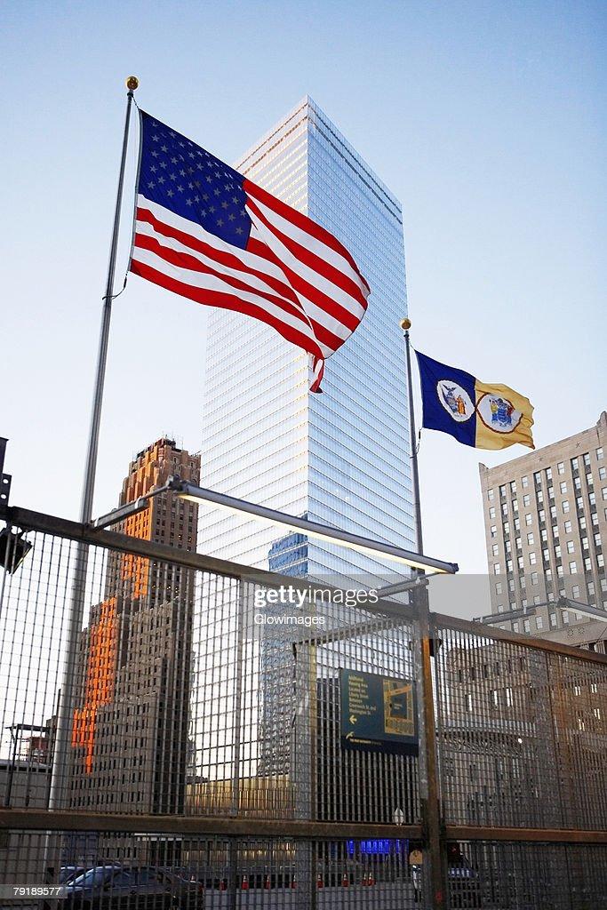 Low angle view of buildings, World Trade Center, Manhattan, New York City, New York State, USA : Foto de stock