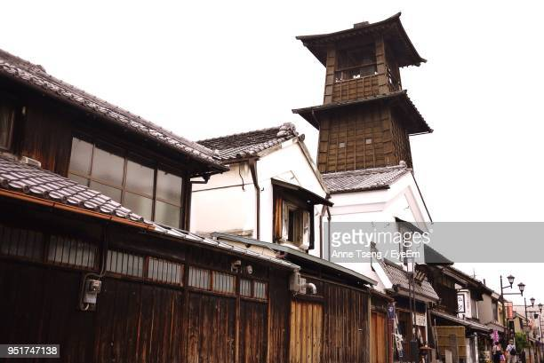 low angle view of built structure against clear sky - kawagoe stock pictures, royalty-free photos & images