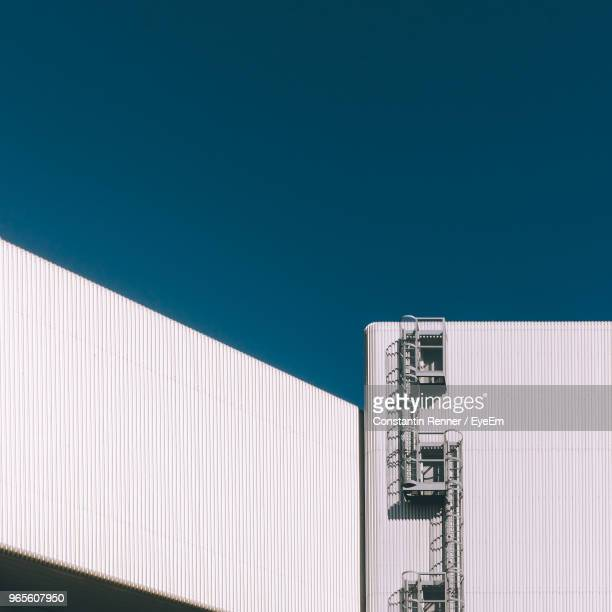 low angle view of built structure against clear sky - baden württemberg stock photos and pictures