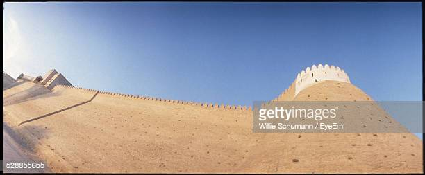 Low Angle View Of Bukhara Fort Against Clear Blue Sky