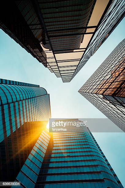 low angle view of business buildings