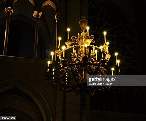 Low Angle View Of Candlestick Holder Chandelier