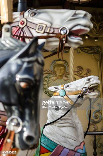 Low Angle View Of Carousel Horses