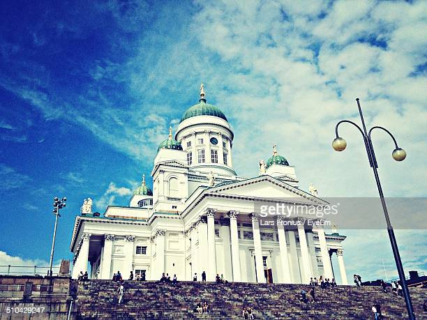 Low angle view of Cathedral at Helsinki, Finland