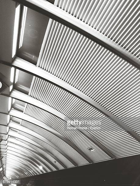 low angle view of ceiling at subway station - roman pretot stock-fotos und bilder