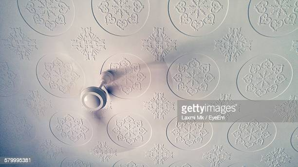 Low Angle View Of Ceiling Fan At Home