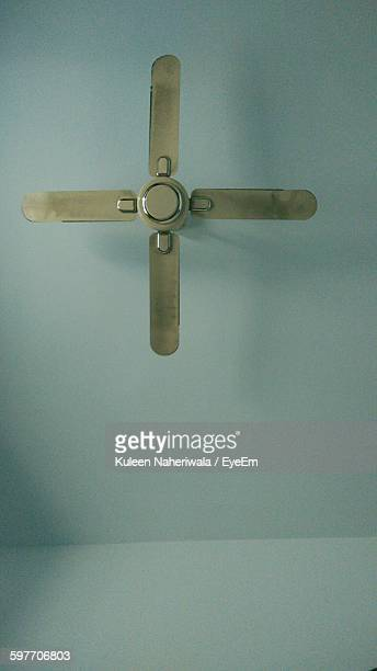 Low Angle View Of Ceiling Fan In Room