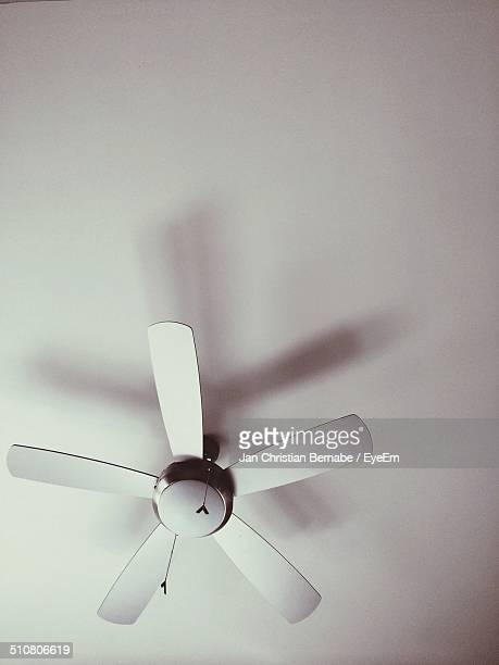 Low angle view of ceiling fan
