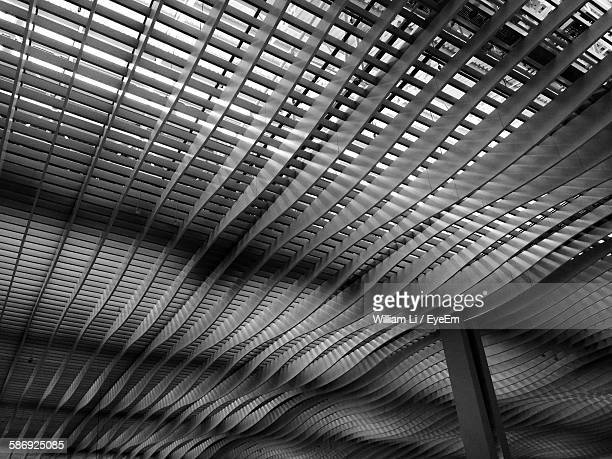 Low Angle View Of Ceiling Of Hong Kong International Airport