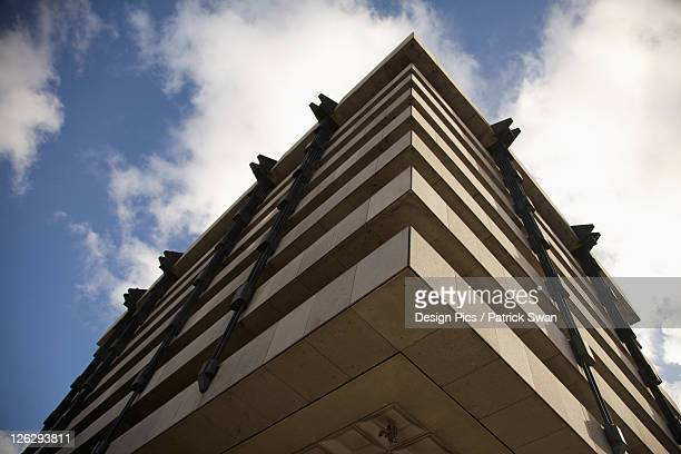 low angle view of central bank - central bank stock pictures, royalty-free photos & images