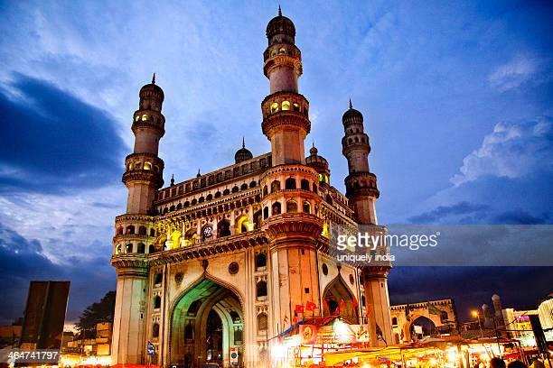 Low angle view of Charminar, Hyderabad, Andhra Pradesh, India