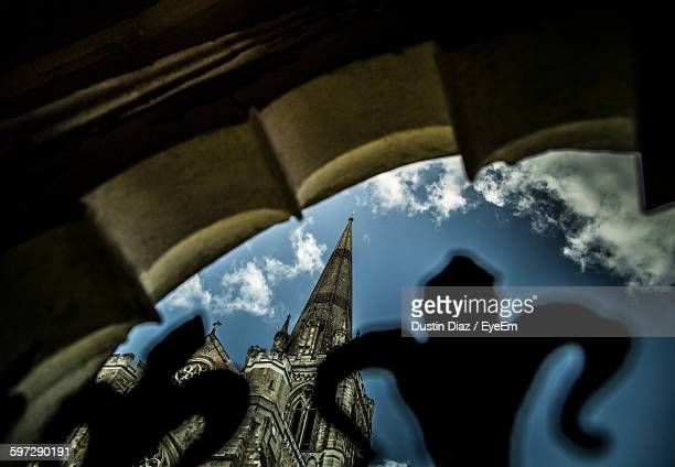 Low Angle View Of Chichester Cathedral Seen Through Gate