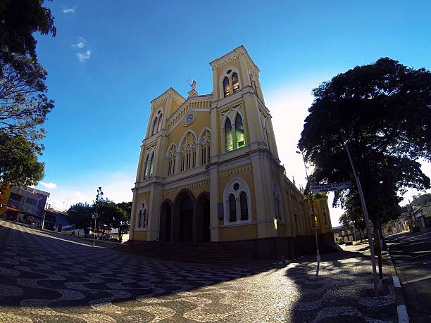 Low Angle View Of Church Against Sky At Mogi Mirim