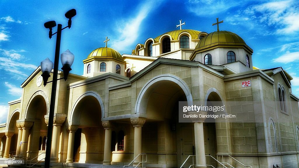 Low Angle View Of Church Against Sky : Stock Photo
