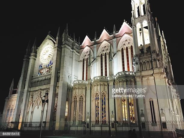 Low Angle View Of Church At Night