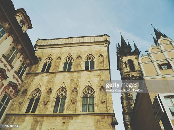low angle view of church of our lady before tyn - aneta eyeem stock pictures, royalty-free photos & images