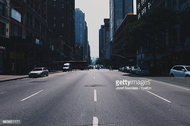 Low Angle View Of City Street