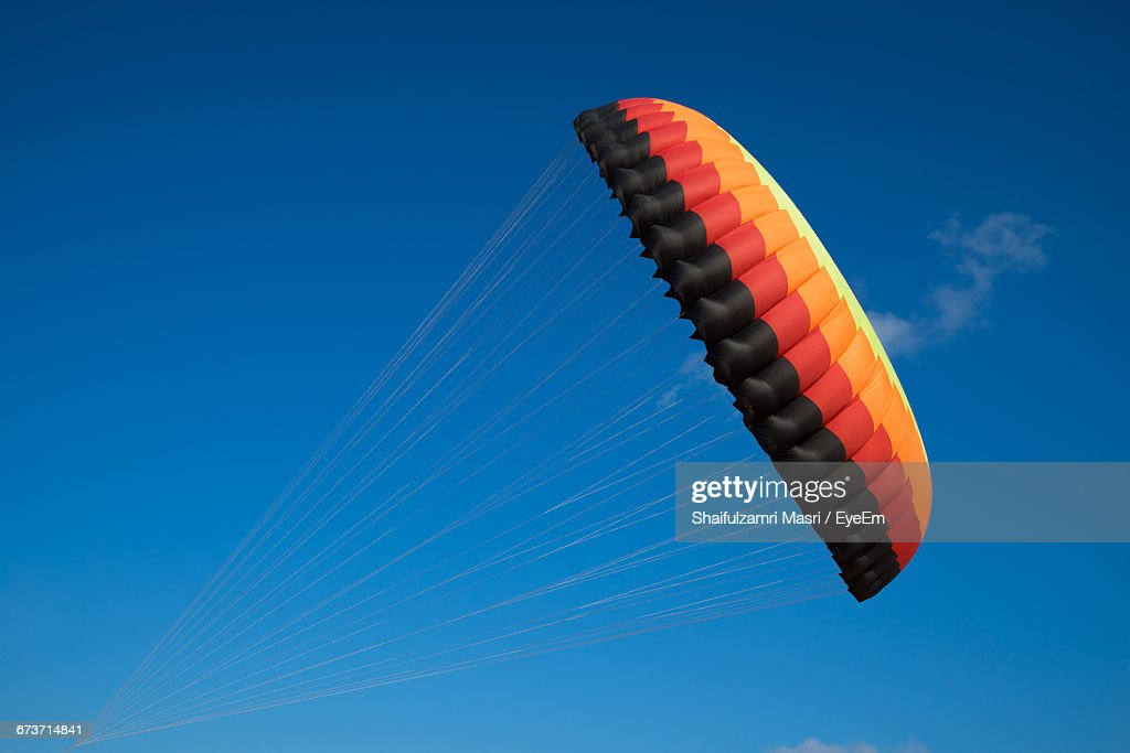 Low Angle View Of Clear Blue Sky : Stock Photo