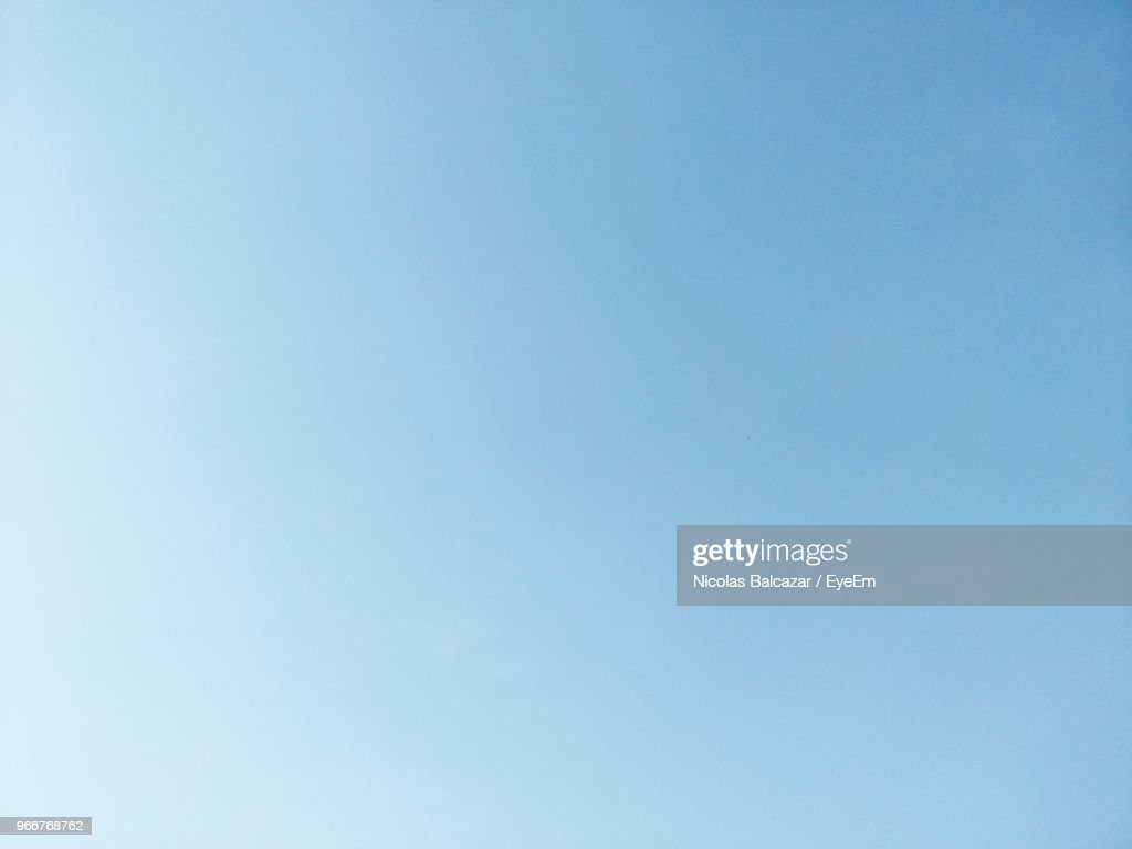 Low Angle View Of Clear Sky : Stock Photo
