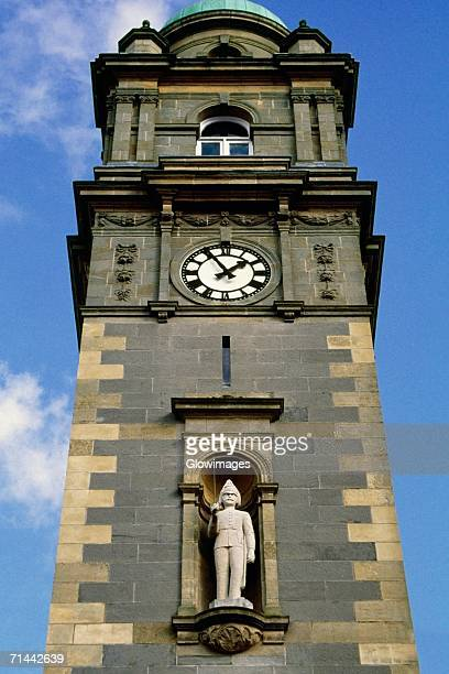Low angle view of clock tower Enniskillen in Northern Ireland