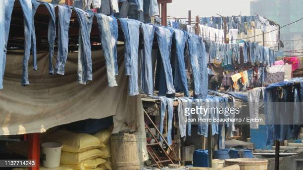 Low Angle View Of Clothes Drying At Dhobi Ghat