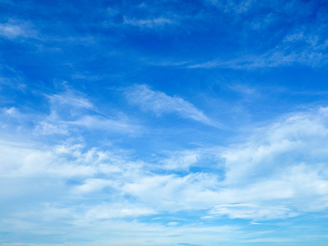 Low Angle View Of Clouds In Blue Sky - gettyimageskorea