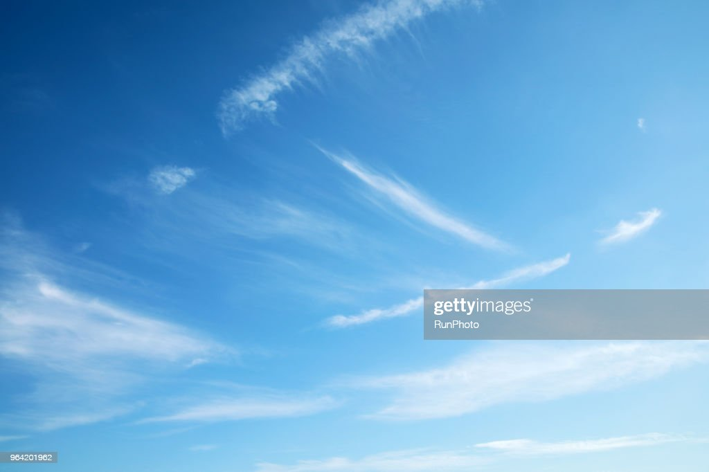 Low Angle View Of Clouds In Blue Sky : Stock Photo