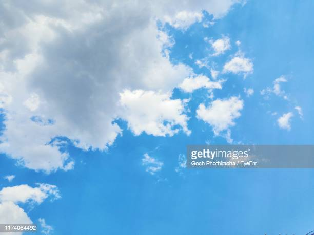 low angle view of clouds in sky - goch stock photos and pictures