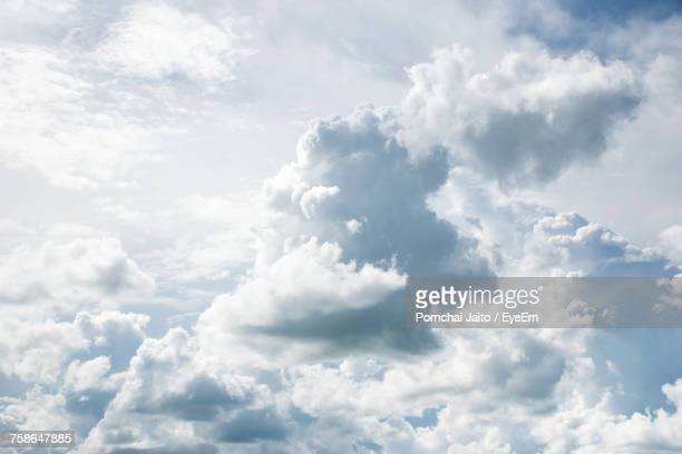 low angle view of clouds in sky - elysium stock pictures, royalty-free photos & images