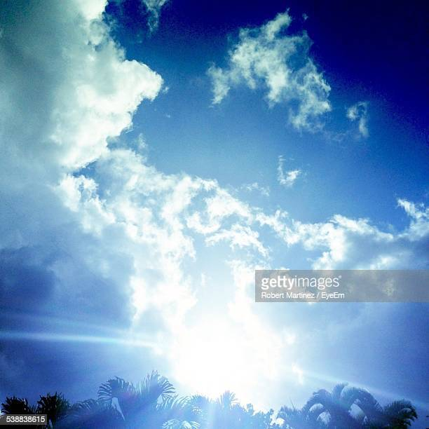 Low Angle View Of Cloudy Blue Sky