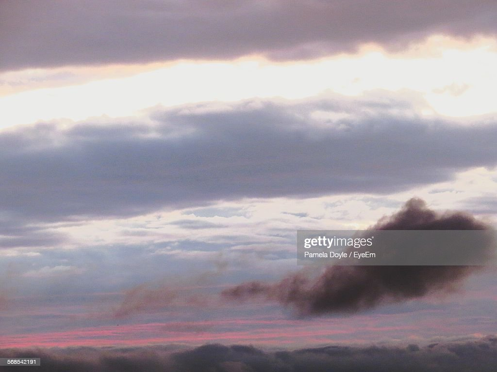 Low Angle View Of Cloudy Sky During Sunset : Stock Photo
