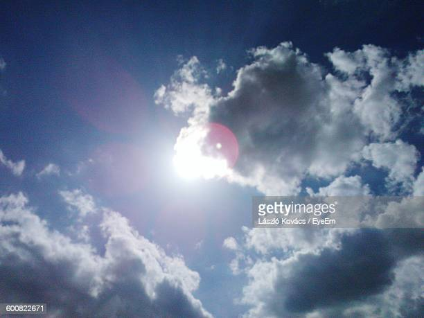Low Angle View Of Cloudy Sky On Sunny Day