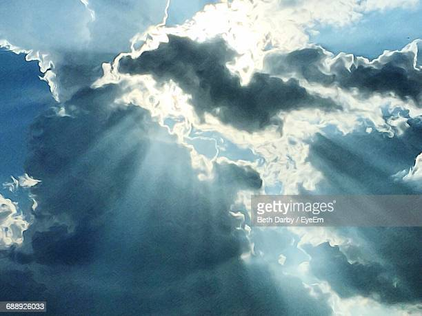 low angle view of cloudy sky - elysium stock photos and pictures