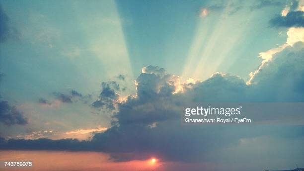 low angle view of cloudy sky - heaven stock pictures, royalty-free photos & images