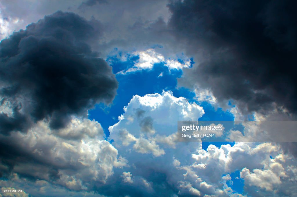 Low angle view of cloudy sky : Stock Photo