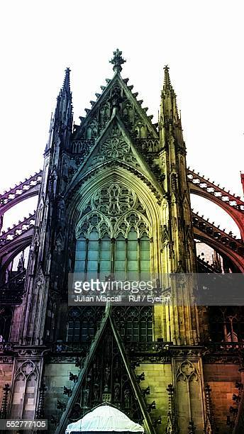 Low Angle View Of Cologne Cathedral Against Clear Sky