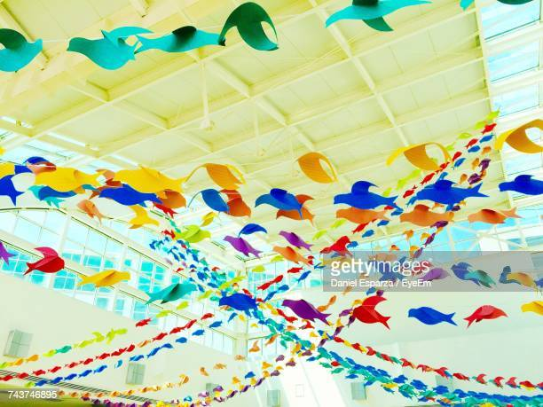 Low Angle View Of Colorful Bunting