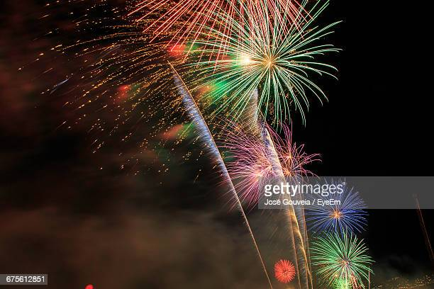 Low Angle View Of Colorful Firework Display
