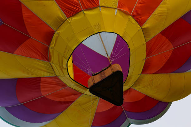 Low Angle View Of Colorful Hot Air Balloon