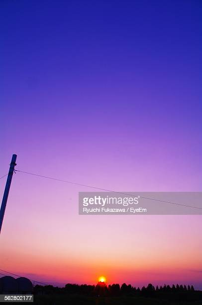 Low Angle View Of Colorful Sky At Sunset