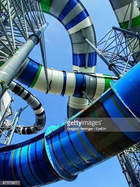Low Angle View Of Complex Water Slide Against Sky
