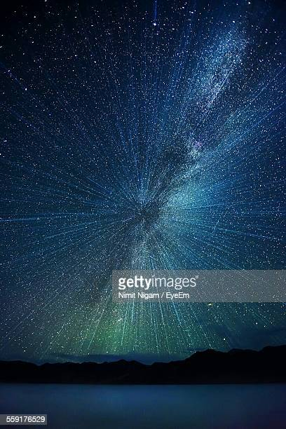 Low Angle View Of Concentric Star Field At Night