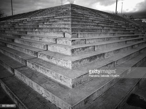 Low Angle View Of Concrete Stairs