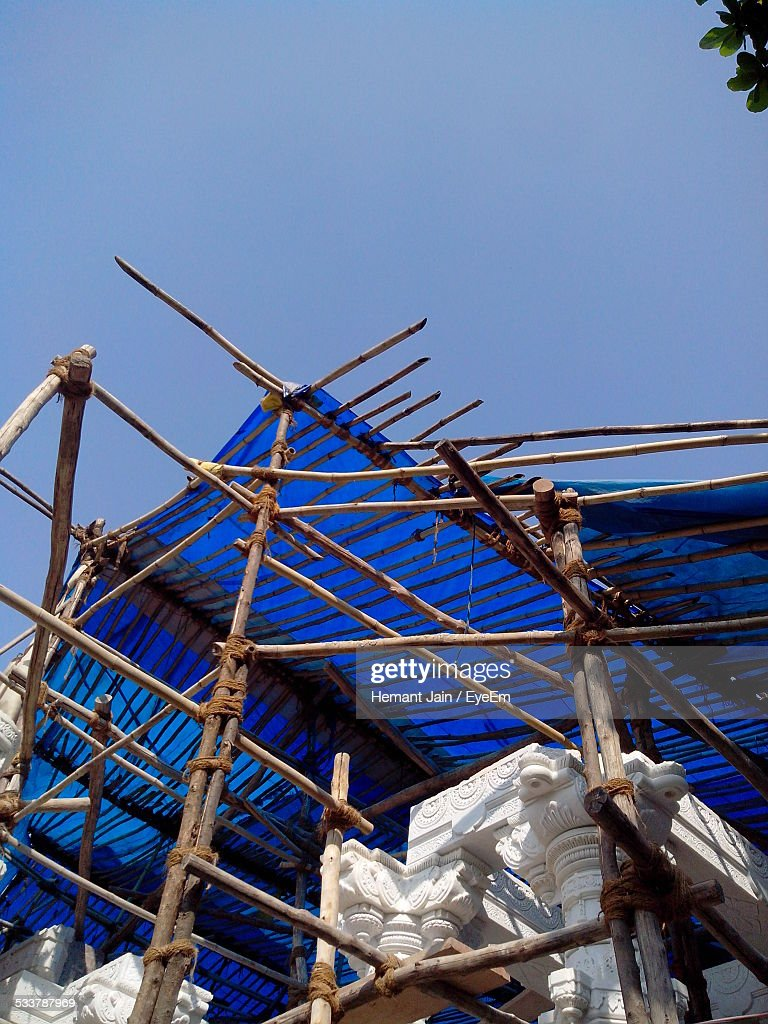 Low Angle View Of Construction Site : Foto stock